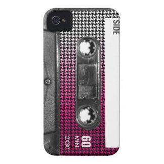 O rosa desvanece-se gaveta da etiqueta de Houndsto Capa iPhone 4