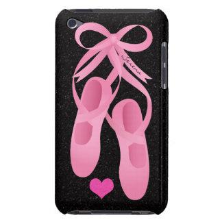 O rosa do balé do monograma calça a capa do ipod t capa para iPod touch
