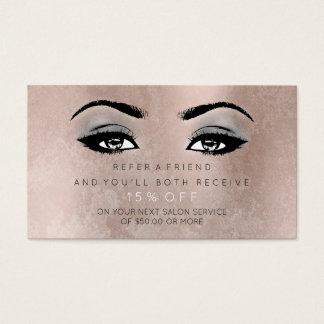 O rosa do cartão da referência do salão de beleza