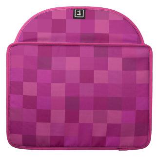 O rosa esquadra luva do caso de Macbook a pro Capa Para MacBook