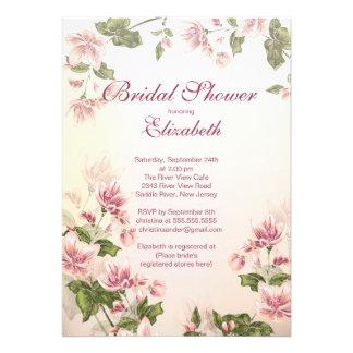 O rosa floral bonito de Vintag floresce chá de pan