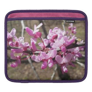 O rosa floresce luva do iPad Bolsas De iPad