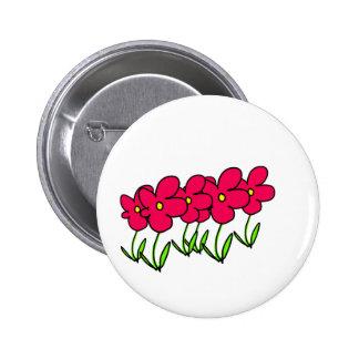 O rosa floresce o crachá personalizar-capaz dos bóton redondo 5.08cm