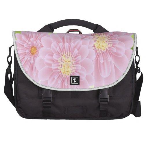 O rosa floresce o saco do laptop bolsa para laptops