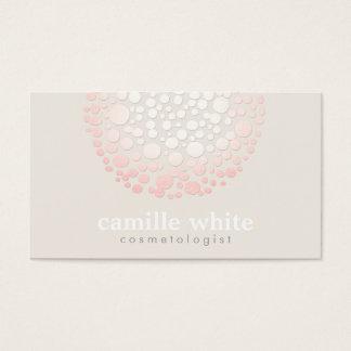 O rosa macio elegante circunda termas e salão de cartão de visitas