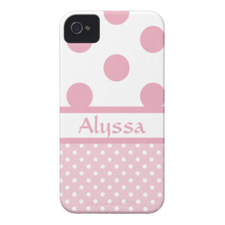 O rosa pontilha a caixa corajosa 2 de Blackberry Capinha iPhone 4