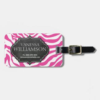 O rosa QUENTE Sassy personalizou o Tag do saco do  Etiquetas De Bagagens