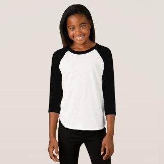 O roupa americano das meninas 3/4 de t-shirt do