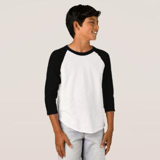O roupa americano dos miúdos 3/4 de t-shirt do