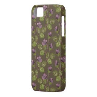 O roxo bonito verde-oliva floresce o iPhone 5 da Capa Barely There Para iPhone 5
