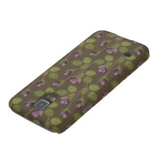 O roxo bonito verde-oliva floresce o nexo da capinha galaxy s5