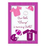 O roxo cor-de-rosa das meninas ostenta o convite