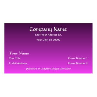 O roxo cor-de-rosa do desenhista desvanece-se cart cartão de visita