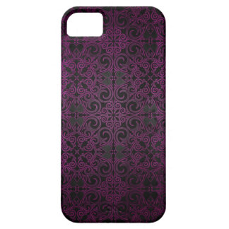 O roxo elegante do damasco desvanece-se para capa para iPhone 5