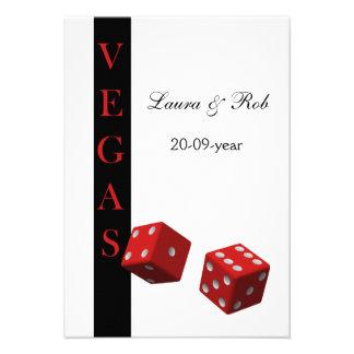 O rsvp do casamento de Vegas carda o padrão 3,5 x  Convite Personalizados
