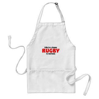 O rugby é sério avental