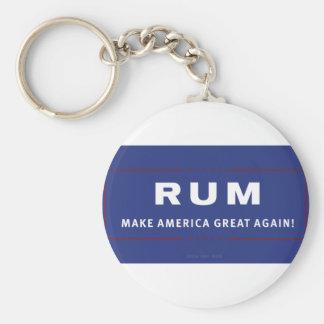 O rum faz o excelente de América outra vez Chaveiro