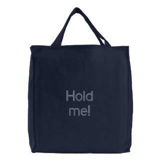 "O saco bordado ""guardara-me! "" bolsa tote bordada"