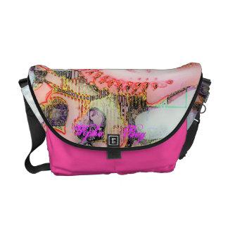 O saco cor-de-rosa de Buddha Bolsas Mensageiro
