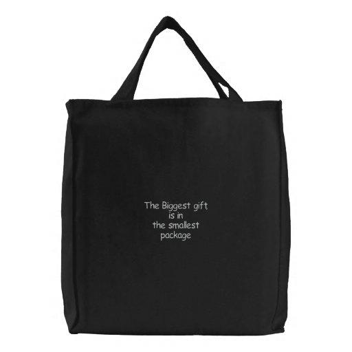 O saco presente-bordado o mais grande bolsas de lona