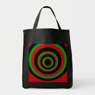 O saco preto & verde vermelho bolsas de lona
