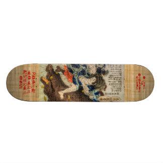 O samurai luta o animal mitológico shape de skate 19,7cm