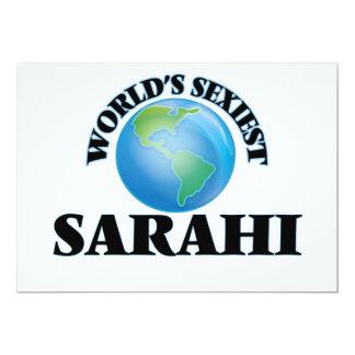 """O Sarahi o mais """"sexy"""" do mundo Convite Personalizados"""