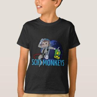 O SciFi Monkeys o logotipo T-shirts