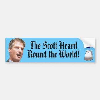 O Scott ouviu-se em volta do mundo Adesivo Para Carro