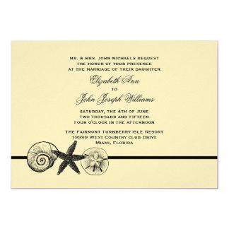 O Seashell estima o convite do casamento