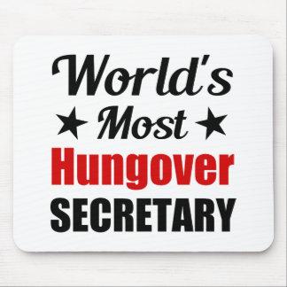 O secretário o mais hungover Engraçado Bebendo do Mouse Pad