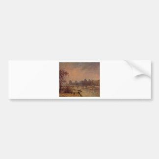 O Seine e o Louvre, Paris Camille Pissarro Adesivo Para Carro