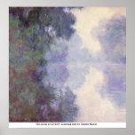 O Seine em Giverny, névoa da manhã por Claude Mone Poster