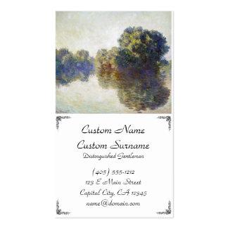 O Seine perto de Giverny Claude Monet Cartão De Visita