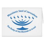 O selo judaico messiânico de Jerusalem Cartão