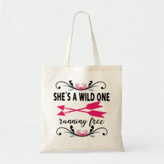 O selvagem com a sacola das mulheres das setas bolsa tote
