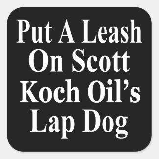 O sequaz mau do óleo de Scott Koch do rick do Adesivo Em Forma Quadrada