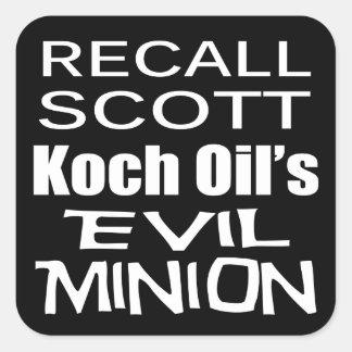 O sequaz mau do óleo de Scott Koch do rick do Adesivo Quadrado