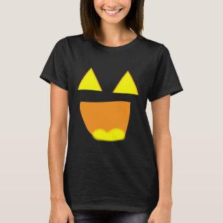 O smiley face Jackolantern de incandescência T-shirt