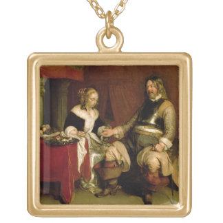 O soldado do cavalheiro (óleo em canvas) bijuterias personalizadas