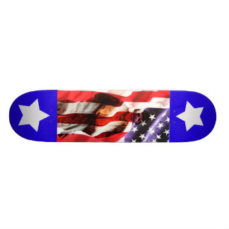 O soldado dos EUA América desvanece-se na bandeira Shape De Skate 19,7cm