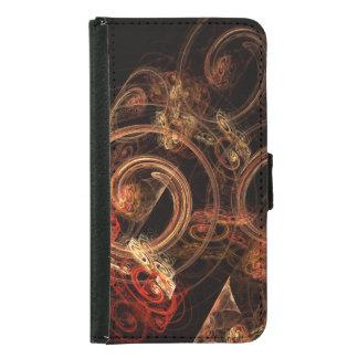 O som da caixa da carteira da arte abstracta da capas carteira para galaxy s4