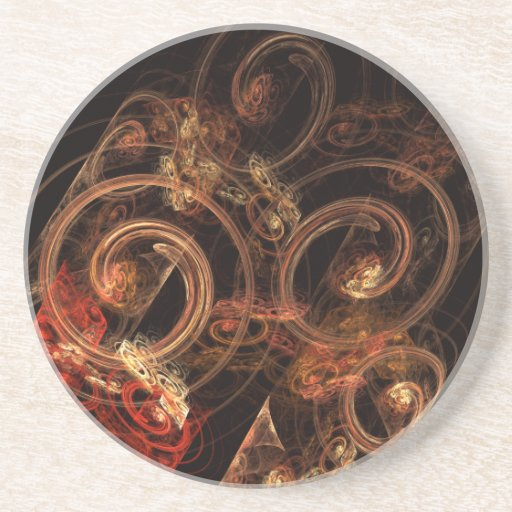 O som da porta copos do arenito da arte abstracta