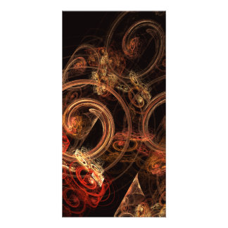 O som do cartão com fotos da arte abstracta da cartão com foto