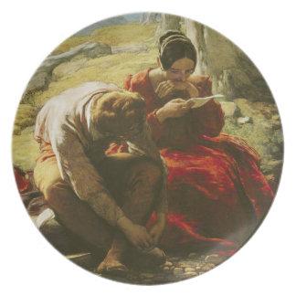 O soneto, 1839 (óleo no painel) louças de jantar