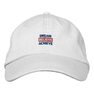 O sonho acredita consegue o chapéu bordado boné bordado