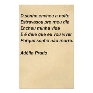 O sonho - Adélia Prado Papelaria