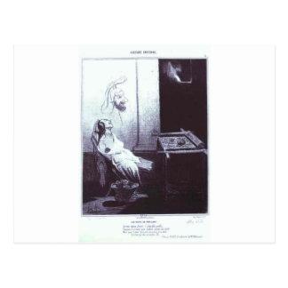 O sonho de Penelopa por Honore Daumier Cartão Postal