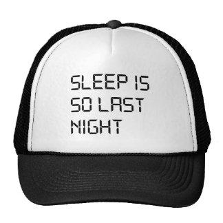 O sono é tão a noite passada chapéu boné