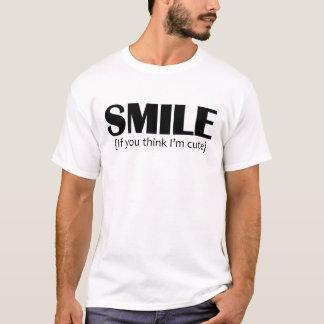 O sorriso, se você me pensa é bonito t-shirts